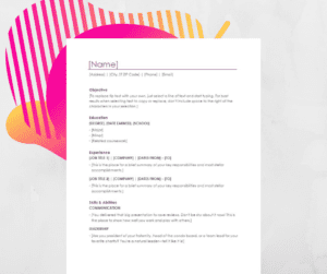 simple professional cv template